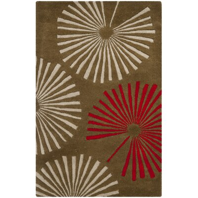 Chidi Brown/Ivory Rug Rug Size: Rectangle 26 x 4