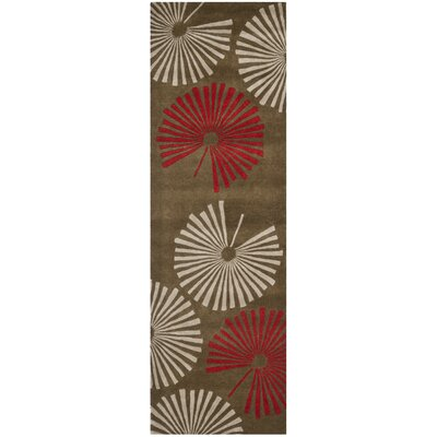 Chidi Brown/Ivory Rug Rug Size: Runner 26 x 8