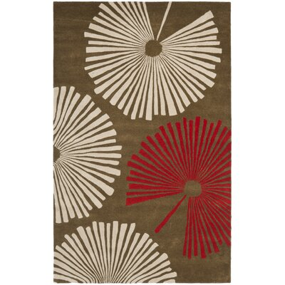 Chidi Brown/Ivory Rug Rug Size: Rectangle 6 x 9