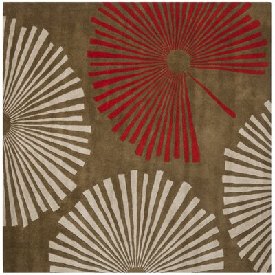 Chidi Brown/Ivory Rug Rug Size: Square 6