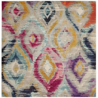Goose Point Orange/Yellow Area Rug Rug Size: Square 67