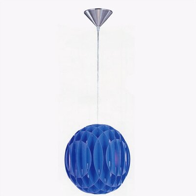 Hadassah 1-Light Mini Pendant Finish: Blue