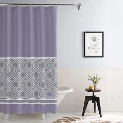 Jaida Waterproof Printed 14 Piece Shower Curtain Set Color: Lavender