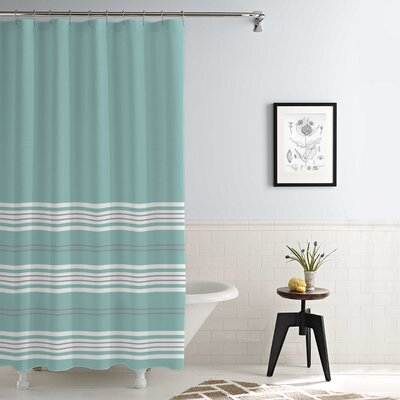 Kimora Waterproof Printed Shower Curtain Set Color: Aqua
