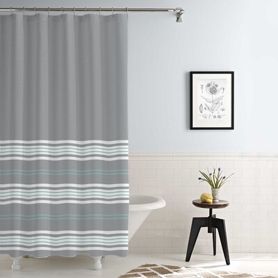 Kimora Waterproof Printed Shower Curtain Set Color: Gray