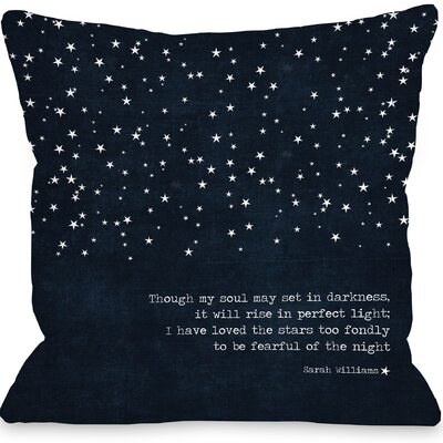 Kiana Fearful of the Night Throw Pillow Size: 18 H x 18 W x 3 D
