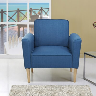 Daphne Arm Chair Upholstery: Blue