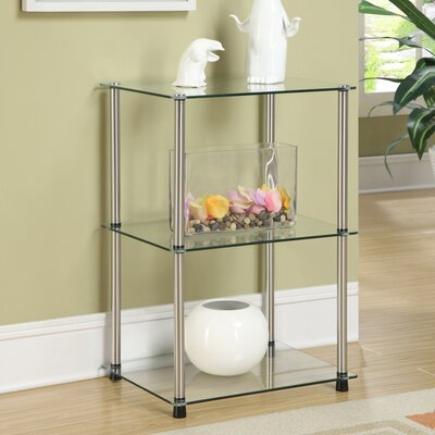 Beckett Three Tier Metal Base End Table Color: Silver