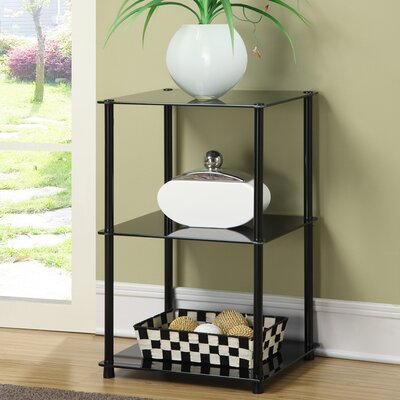 Beckett Three Tier Metal Base End Table Color: Black