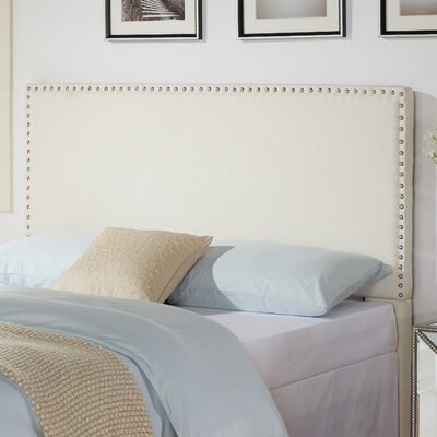 Holly Nailhead in Glacier Upholstered Panel Headboard Size: King / California King