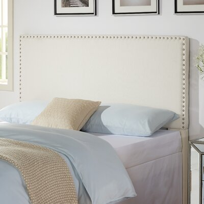 Holly Nailhead in Glacier Upholstered Panel Headboard Size: Full / Queen