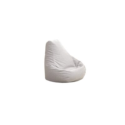 Traditional Polyester Bean Bag Chair Upholstery: Silver