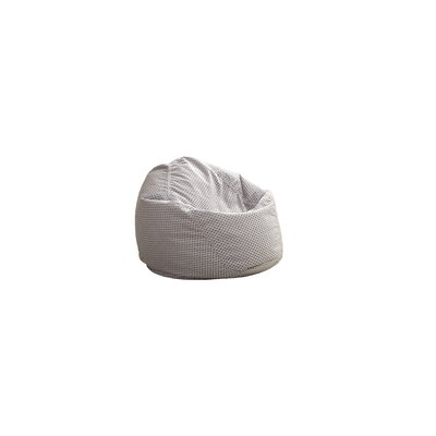 Medium Bean Bag Chair Color: Silver