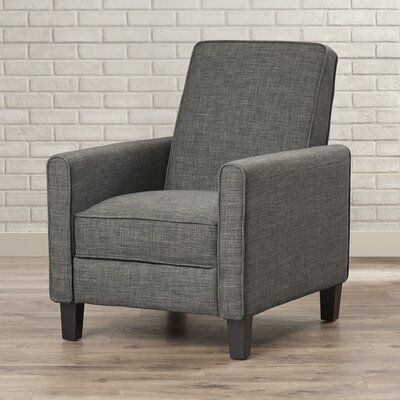 Sandra Club Recliner Upholstery: Picklesgreen Grey