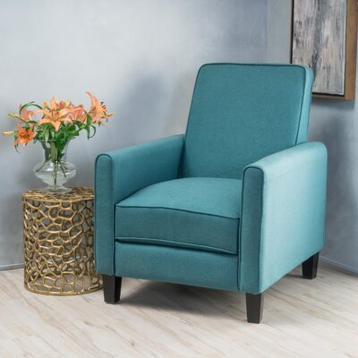 Sandra Club Recliner Upholstery: Dark Teal