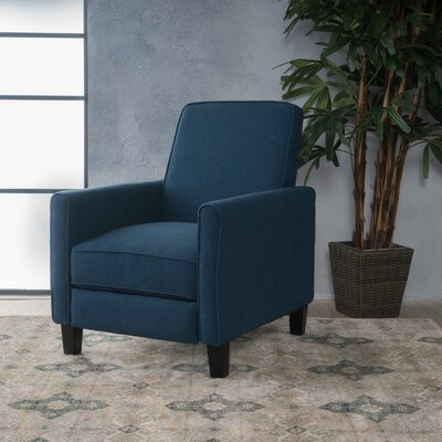 Sandra Manual Recliner Upholstery: Dark Blue