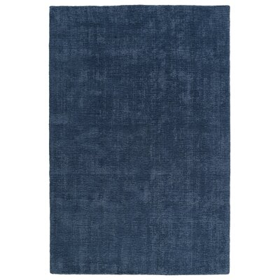 Allibert Hand-Loomed Blue Indoor/Outdoor Area Rug Rug Size: Rectangle 36 x 56