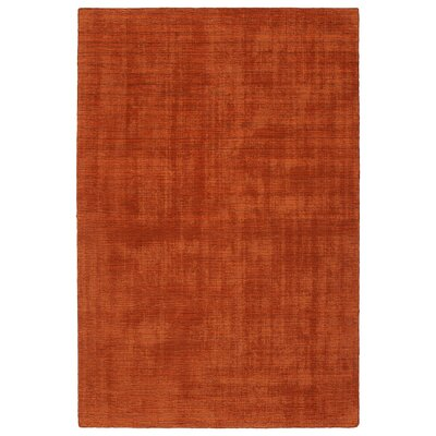 Allibert Hand-Loomed Rust Indoor/Outdoor Area Rug Rug Size: Rectangle 5 x 76
