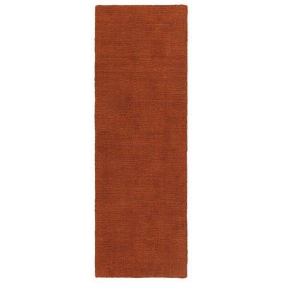 Taliyah Hand-Loomed Rust Indoor/Outdoor Area Rug Rug Size: Runner 2' x 6'