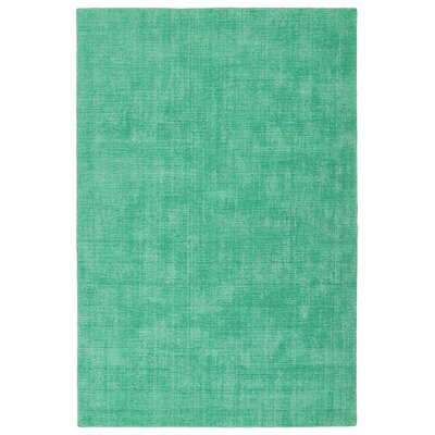 Allibert Hand-Loomed Mint Indoor/Outdoor Area Rug Rug Size: Rectangle 9 x 12