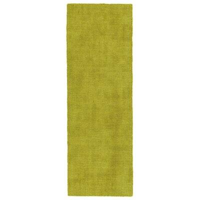 Allibert Hand-Loomed Lime Green Indoor/Outdoor Area Rug Rug Size: Runner 2 x 6