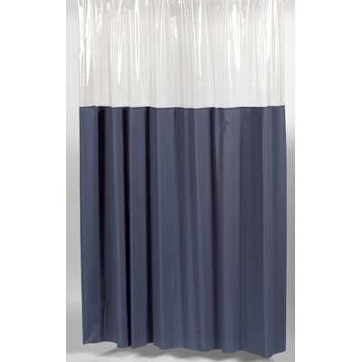 Cindy Window Shower Curtain Size: 72 W x 72 H, Color: Slate and Clear