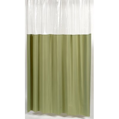 Cindy Window Shower Curtain Size: 72 W x 72 H, Color: Sage and Clear