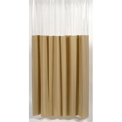 Cindy Window Shower Curtain Size: 72 W x 72 H, Color: Linen and Clear