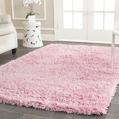 Cody Hand-Loomed Pink Kids Rug Rug Size: Rectangle 76 x 96