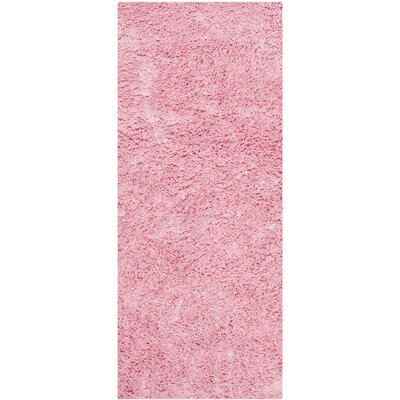 Cody Hand-Loomed Pink Kids Rug Rug Size: Runner 23 x 6