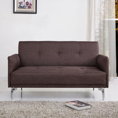 Dwayne Modern Loveseat Upholstery: Brown