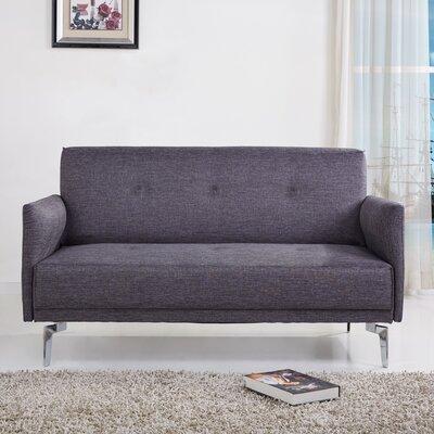 Dwayne Modern Loveseat Upholstery: Gray