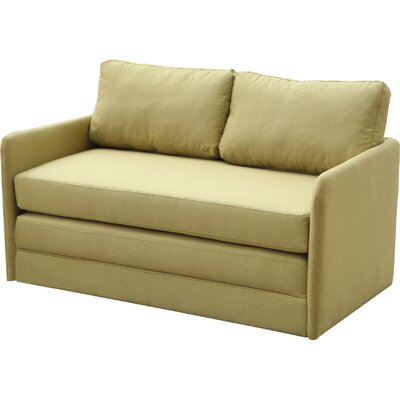 Earl Reversible Sleeper Loveseat Upholstery: Yellow/Green