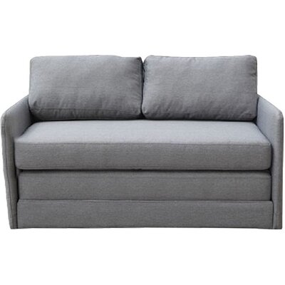 Earl Reversible Sleeper Loveseat Upholstery: Gray