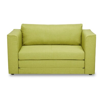 Earlene Reversible Sleeper Loveseat Color: Lemon Green