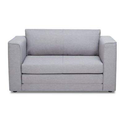 Earlene Sleeper Loveseat Upholstery: Light Gray