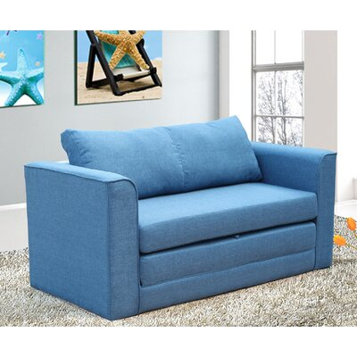 Earlene Sleeper Loveseat Upholstery: Blue