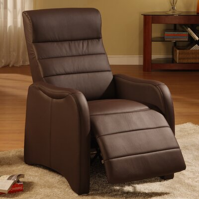 Edgar Ergonomic Manual Recliner Upholstery Color: Chocolate
