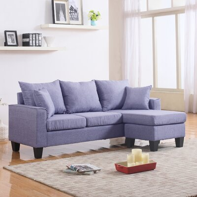 Janna Reversible Chaise Sectional Upholstery: Flint Gray