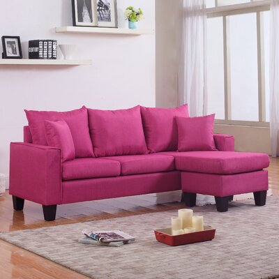 Janna Reversible Sectional Upholstery: Red