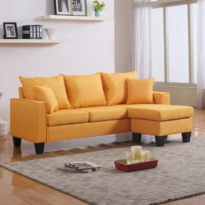 Janna Reversible Sectional Upholstery: Yellow