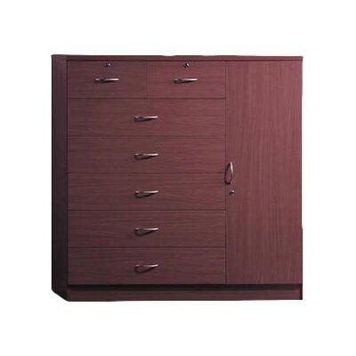 Roselyn 7 Drawer Dresser Color: Mahogany