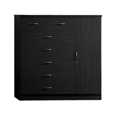 Roselyn 7 Drawer Dresser Color: Black