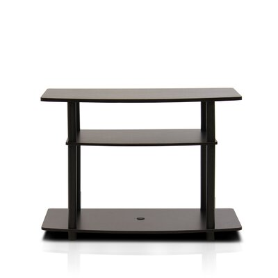 Paulina TV Stand Finish: Dark Brown/Black