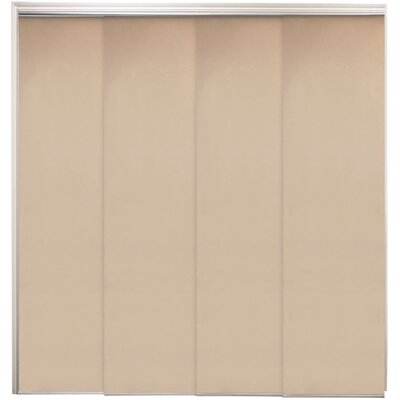 Double Rail Cordless Privacy Sliding Panel Color: Mountain Almond