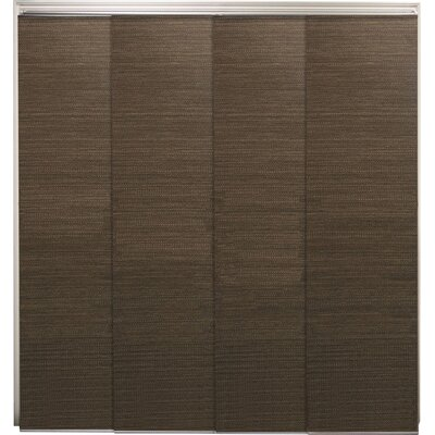 Double Rail Cordless Privacy Sliding Panel Color: French Oolong