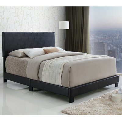 Sloan Upholstered Panel Bed Size: Full, Color: Black