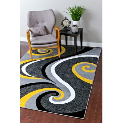 Miya Modern Yellow Area Rug Rug Size: Rectangle 2 x 34