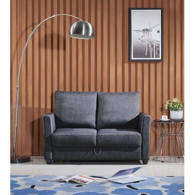 Aviana Contemporary Fabric Loveseat Upholstery: Gray