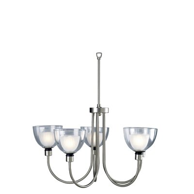 Brandt 5-Light Shaded Chandelier Finish: Steel
